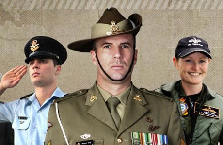 Australian uniformed men and woman.