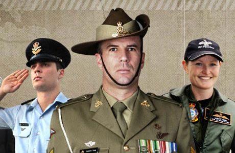 Australian uniformed men and woman.