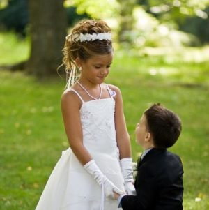 flower girl and ring bearer.