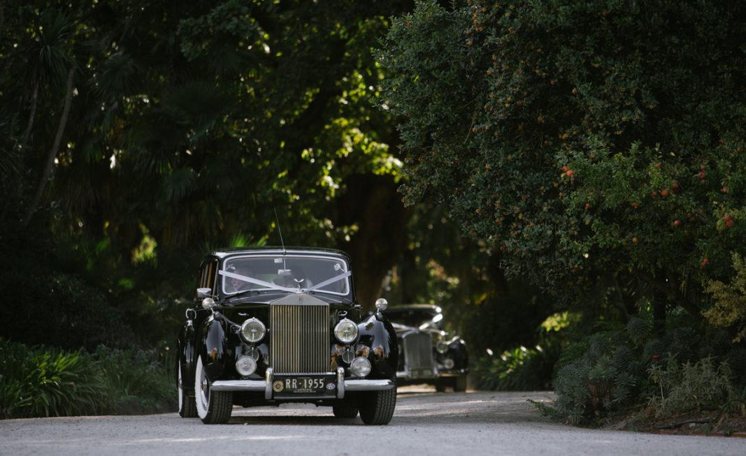 Vintage vehicle during a Real Bride's wedding celebration in Melbourne.