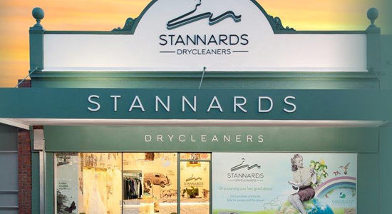 AWGS member Stannards Drycleaners' storefront, Western Australia.
