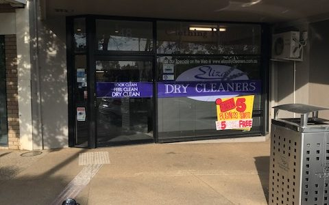 Eliza Dry Cleaners storefront in Mt. Eliza, Victoria, Australia.